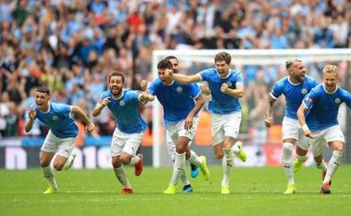 El Manchester City gana la Community Shield en los penaltis