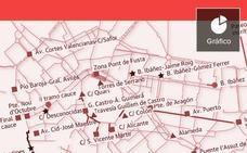Puntos negros de la red ciclista en Valencia