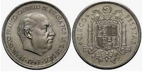 El 'duro' acuñado en 1949 puede valer hasta 20.000 euros.