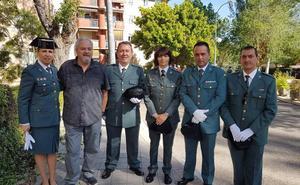 Lucía Llano, al frente de los retirados de la Guardia Civil
