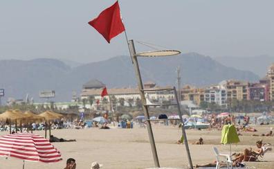 Cinco playas de Valencia cerradas al baño