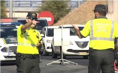 Controles de tráfico en las carreteras durante el puente de agosto