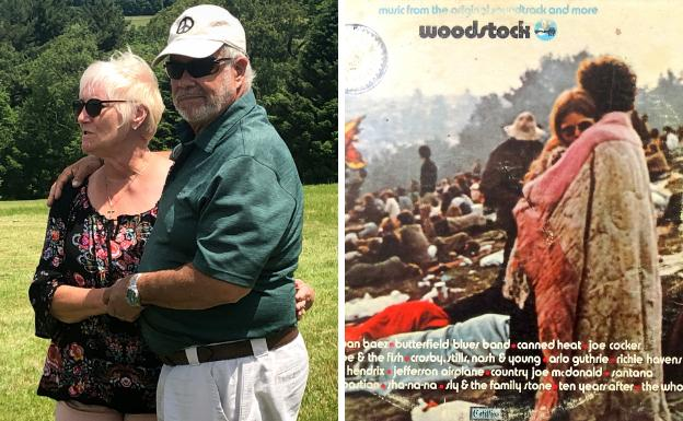 Fotografía actual (i) y del disco de Woodstock. /Reuters