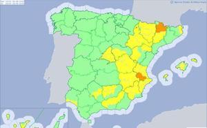Aemet decreta la alerta naranja por calor extremo en el sur de Valencia