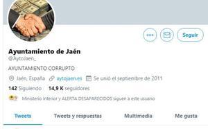Hackean el twitter del Ayuntamiento de Jaén y amenazan de muerte al alcalde Julio Millán