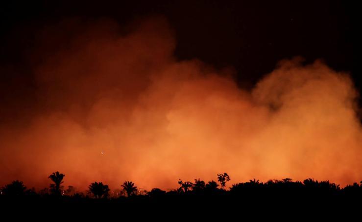 Las imágenes más impactantes del incendio en el Amazonas