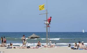Cuatro playas de Valencia, con bandera amarilla