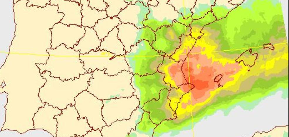 La gota fría deja 50 litros en Andilla, rachas de viento de 70 km/h y retrasos en trenes