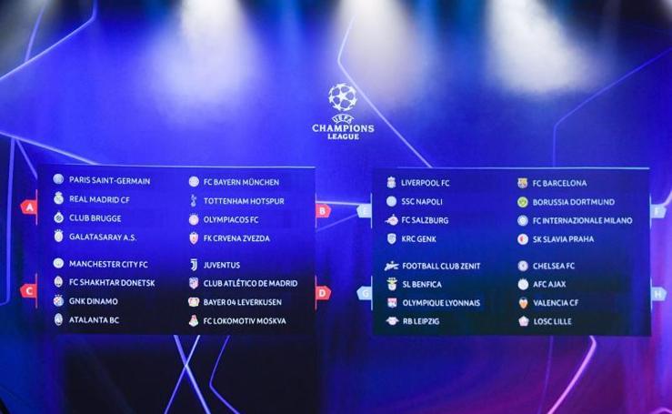 Los horarios de los partidos de la Champions 2019 - 2020