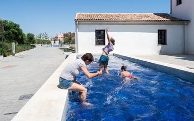 Las 'piscinas' del Parque Central