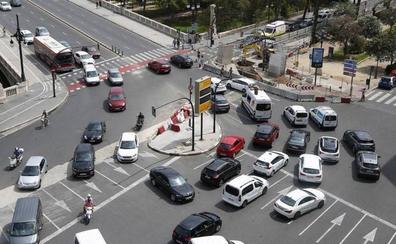 Los puntos más críticos del tráfico en Valencia