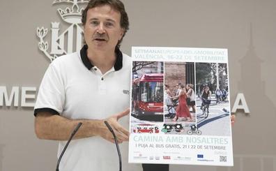 Cierre al tráfico de la Plaza del Ayuntamiento y EMT gratis durante dos días por la Semana de la Movilidad