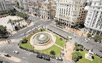 La plaza del Ayuntamiento de Valencia quedará sólo para el transporte público tras su reforma