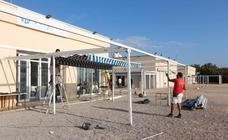 Restaurantes de Pinedo y El Saler empiezan este lunes a desmantelar terrazas