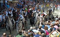 Un jinete y un caballo, heridos en la primera Entrada de Toros de Segorbe