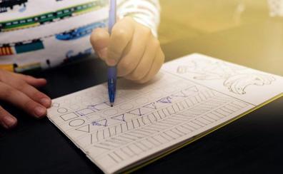 El examen para niños de cuatro y cinco años para entrar en la escuela