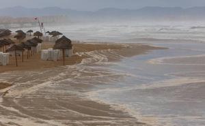 Así ha arrasado el temporal las playas valencianas