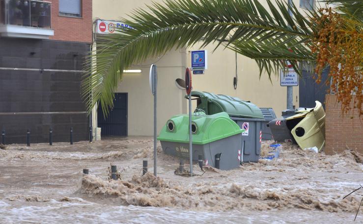 La gota fría desborda Murcia
