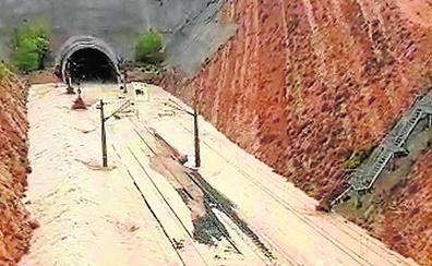 El túnel del AVE se anega a su paso por la Font de la Figuera