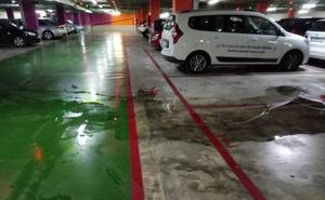 Ciudadanos Xàbia denuncia el estado en que se encuentra el parking de la Plaza de la Constitución tras las lluvias