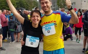 Rubén y Marta, el primer maratón de muchos más juntos