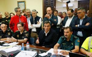 Sánchez promete impulsar medidas de reparación para paliar los daños causados