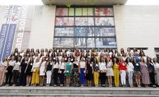 Las candidatas a ser fallera mayor de Valencia 2020 visitan el IVAM