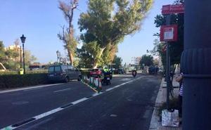 Un único carril para el tráfico en la avenida Jacinto Benavente de Valencia