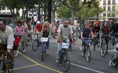 Seis marchas ciclistas para celebrar el Día Sin Coche en Valencia