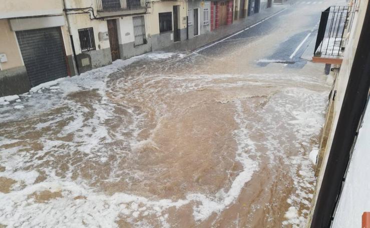 Fuerte tormenta de granizo en Vilafranca