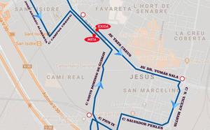 Calles cortadas el domingo en los barrios de San Marcelino y San Isidro de Valencia por la 43ª Volta a Peu, horario de salida y recorrido