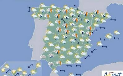 Fuertes tormentas este viernes en la Comunitat Valenciana