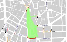 La plaza del Ayuntamiento de Valencia, cerrada al tráfico todo el fin de semana