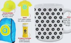 À Punt gasta 90.000 euros en tazas, gorras, pomperos y llaveros antiestrés