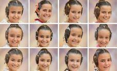 Las 73 candidatas a fallera mayor infantil de Valencia 2020