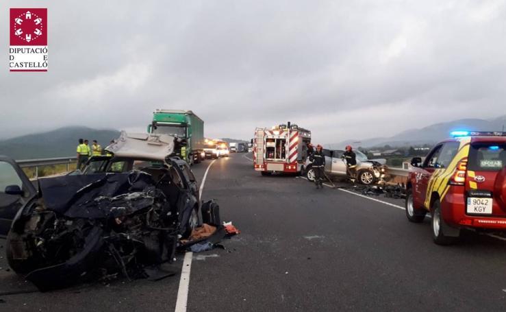 Accidente de tráfico en la N-340 en Peñíscola