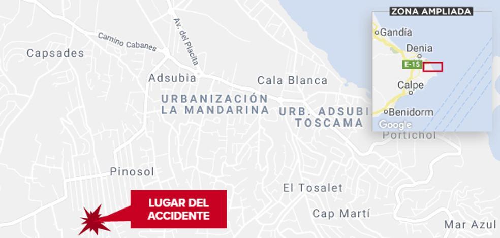 Una conductora sin carné atropella a un jardinero en Xàbia