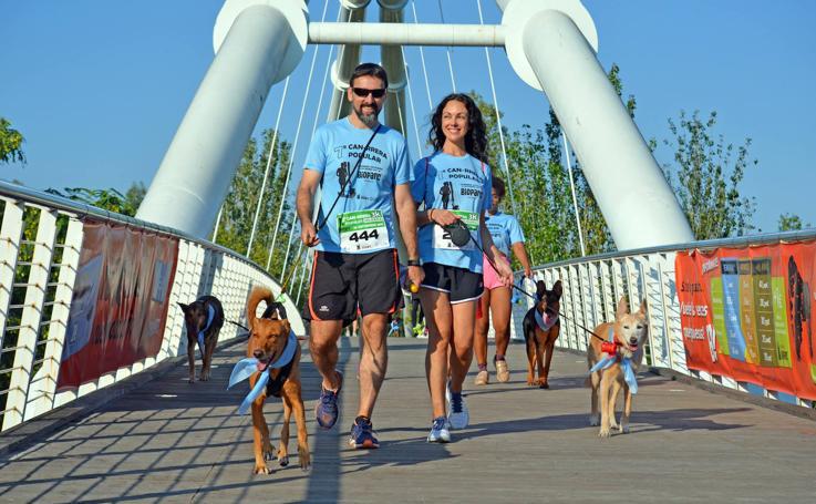 Can-rrera Bioparc 2019: perros y dueños corren juntos en Valencia