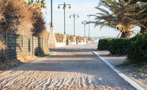 El paseo marítimo de Valencia sufre una mala vejez