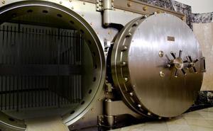 La cámara del Banco de España donde se custodian las reservas nacionales de oro