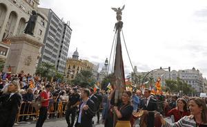 La procesión cívica del 9 d'Octubre en Valencia: recorrido y horarios