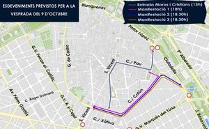 Manifestaciones del 9 de Octubre en Valencia: horario y recorridos