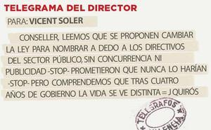 Telegrama para Vicent Soler
