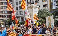 Procesión cívica de Valencia por el 9 d'Octubre de 2019