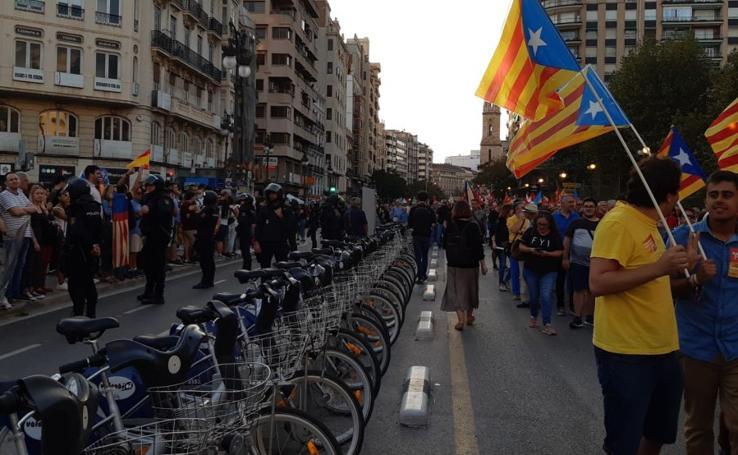 Manifestaciones del 9 d'Octubre en Valencia