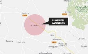 Fallece un motorista de 57 años en un accidente en Domeño