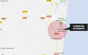 Dos conductores heridos tras chocar en Guardamar del Segura