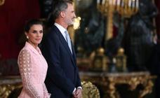 Desfile de caras famosas en la recepción en el Palacio Real con motivo la Fiesta Nacional de 2019