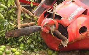 Dos heridos al caer una avioneta de recreo en Villar del Arzobispo