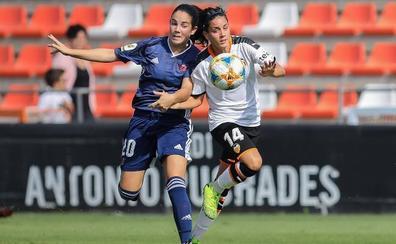 Un arreón final insuficiente del Valencia femenino (1-1)